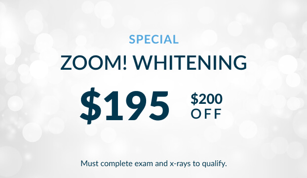 A sale on Zoom! Whitening! $195 for a treatment! That's $200 off.